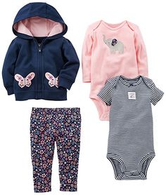 Baby Girl Clothes Simple Joys by Carter's Baby Girls Little Jacket Set, Navy/Pink Floral, 18 Months Baby Outfits, Kids Outfits, Winter Outfits, Newborn Outfits, Little Girl Fashion, Kids Fashion, Ladies Fashion, Fashion Clothes, Boy Clothing