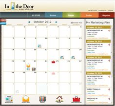 Custom calendar and market planning.