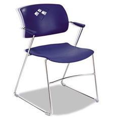 NEW - Veer Series Stacking Chair With Arms, Sled Base, Blue/Chrome, 4/Carton - 4286BU by Safco. $554.70. 32. Make fluid movements that result in superior comfort and adaptability across your workspace. Back arches with the natural curves of your body to give relaxing support whether you need an extra seat for a meeting or a roomful for a presentation. Non-marring floor glides. Stack up to 12 high on the floor and 28 high on a cart. Recommended Applications: Conference, Trai...