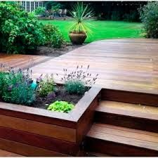 Image result for australian backyard deck design planter box