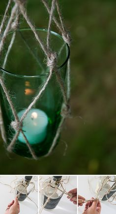 Hanging garden lamps // Curiosas lámparas colgantes de jardín