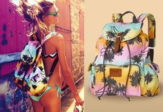 4f36afd6a272 Victoria s Secret Palm Tree Backpack Colorful Backpacks
