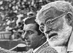 Ernest Hemingway and Spanish matador Antonio Ordonez during a bullfight