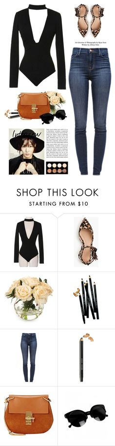 """Sassyselfie.com"" by yexyka ❤ liked on Polyvore featuring J.Crew, John-Richard, Bobbi Brown Cosmetics, J Brand, Chloé and NYX"