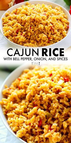 Rice Recipes For Dinner, Dinner Dishes, Side Dish Recipes, Louisiana Recipes, Cajun Recipes, Cooking Recipes, Side Dishes For Chicken, Side Dishes For Bbq, Cajun Dishes