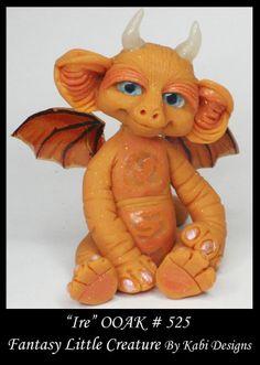 Fantasy Little Dragon DollHouse Art Doll Polymer Clay CDHM OOAK IADR Ire Mini