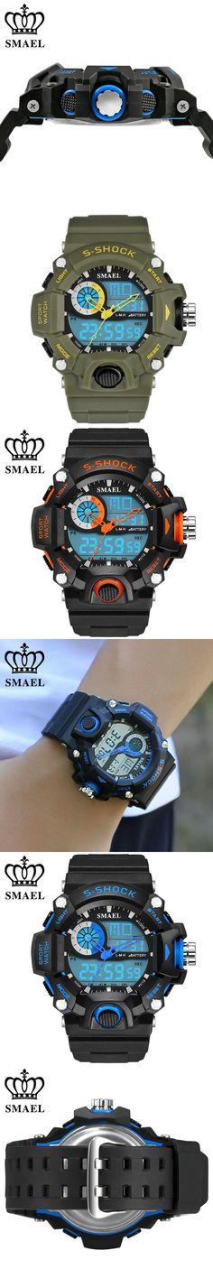 SMAEL Watches Men Military Army Mens Watch Reloj Led Digital Sports Wristwatch Male Gift Analog S Shock Automatic Watch Male