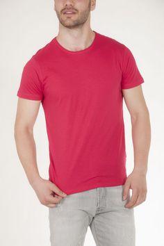 Κοντομάνικη μπλούζα κοραλί με στρογγυλή λαιμόκοψη αντρικό sorbino