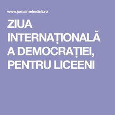 ZIUA INTERNAȚIONALĂ A DEMOCRAȚIEI, PENTRU LICEENI