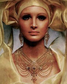 Monet Jewelry, 1969  vintage ad Jewellery Advertising, Jewelry Ads, Fashion Jewelry, Jewelry Design, Gold Jewelry, Jewlery, Fashion Accessories, Vintage Costume Jewelry, Vintage Costumes