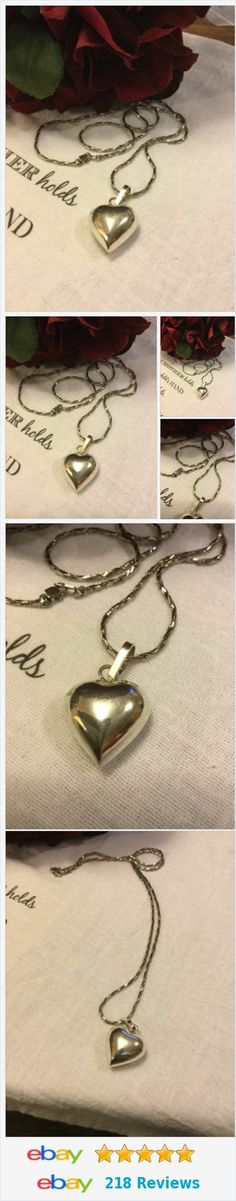 Sterling Silver Nice Think Necklace With Heart Pendant..EUC http://www.ebay.com/itm/Sterling-Silver-Nice-Think-Necklace-With-Heart-Pendant-EUC-/222255261703