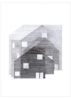 Scandinavian Poster - Architecture Drawing - Black & White Illustration