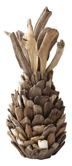 Pure Driftwood Pineapple Sculpture