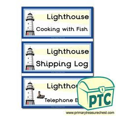 Lighthouse Role Play Resources - Primary Treasure Chest Teaching Activities, Teaching Ideas, Lighthouse Keepers Lunch, Seaside Shops, Book Labels, Ourselves Topic, Letter Sounds, Book Themes, Role Play