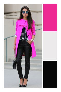 The 5 fuchsia garments that will complement your wardrobe dramatically - Tizkka - The 5 fuchsia garments that will complement your wardrobe dramatically - Colour Combinations Fashion, Color Combinations For Clothes, Color Blocking Outfits, Fashion Colours, Colorful Fashion, Spring Outfits, Winter Outfits, Casual Outfits, Look Fashion