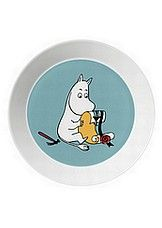 Moomintroll plate from Arabia by Tove Jansson, Tove Slotte Moomin Shop, Moomin Mugs, Ceramic Tableware, Ceramic Bowls, Moomin Valley, Fancy Kitchens, Tove Jansson, Blue Bowl, Porcelain Mugs