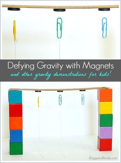 Exploring gravity with young children- TWO fun activities! ~ BuggyandBuddy.com