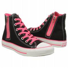 Athletics Converse Women's Chuck Taylor Side Zip Black/Ko Pink FamousFootwear.com