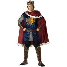Super Deluxe Noble King Costume - Renaissance and Medieval Costumes Costume Renaissance Homme, Medieval Costume, Renaissance Fashion, Renaissance Clothing, King Arthur Costume, King Costume, King And Queen Costume, Costume Roi, Costume Chevalier