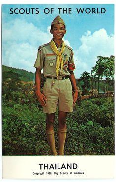 #1968 #BoyScouts of the World #Thailand #Asian #Chrome #Postcard #Ephemera #evt #Asia #Boy #Scouts by OakwoodView