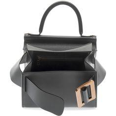 BOYY Karl 24 Top Handle Bag (£835) ❤ liked on Polyvore featuring bags, handbags, expandable bag, top handle bags, buckle bag, handle handbag and top handle handbags