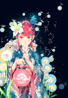 Kai Fine Art is an art website, shows painting and illustration works all over the world. Kimono Animé, Anime Kimono, Manga Art, Manga Anime, Anime Art, Anime Kawaii, Lovers Art, Anime Girls, Lady