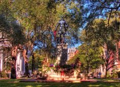 Oglethorpe square Savannah GA