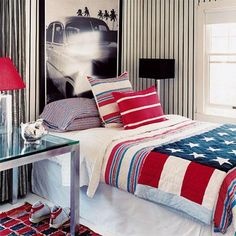 Guest bedroom.. would love a patriotic, Americana theme