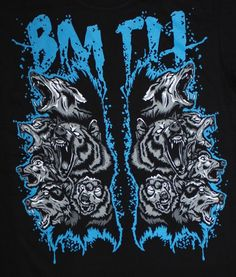 Bring Me The Horizon metalcore DEATHCORE BAND BMTH WOLF T-shirt Man Sz M,L #HotRock #BasicTee