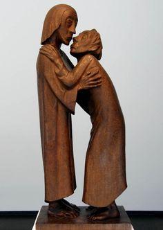 Das Wiedersehen, 1926 by Ernst Barlach (German 1870-1938) ['The Farewell']