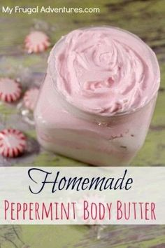 Body Butter Recipe Homemade Peppermint Body Butter- juts like the Body Shop! This is a wonderful homemade gift idea or just something to treat yourself. Use any fragrance you like (or skip the fragrance altogether).Treat Treat may refer to: Kosmetik Box, Homemade Body Butter, Homemade Recipe, Whipped Body Butter, Homemade Body Scrubs, Diy Lotion, Lotion Bars, Homemade Beauty Products, Diy Spa Products