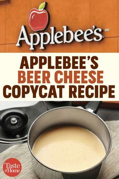 How to Make a Spot-on Applebee's Beer Cheese Dip Copycat - Applebee's Beer Cheese Copycat Recipe The Effective Pictures We Offer You About breakfast recipes - Taste Of Home, Beer Cheese Sauce, Applebee's Beer Cheese Dip Recipe, Beer Cheese Pretzel Dip, Cheese Soup, Beer Cheese Dips, Cheese Sauce Recipes, Cheese Dip For Soft Pretzels, Gourmet