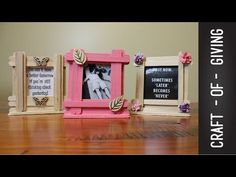 Easy Craft Stick Photo Frames | Craft of Giving - YouTube