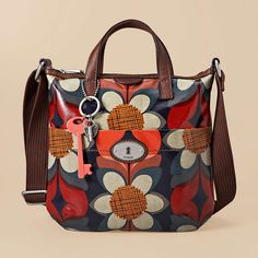 Fossil Key-per bag. I saw the bird print in store today and fell in love.