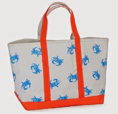 Maryland Pink and Green: Preppy Blue Crab Tote Giveaway