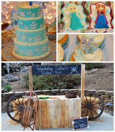 Disney's Frozen themed birthday party with Lots of Cute Ideas via Kara's Party Ideas | Cake, decor, cupcakes, games and more! KarasPartyIdeas.com #frozenparty #frozen #partyideas #partydecor #partyplanning (2)