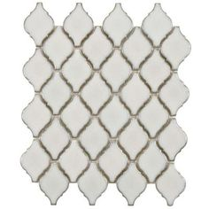 Merola Tile Arabesque Selene 11-1/8 in. x 9-7/8 in. Porcelain Mosaic Floor and Wall Tile-FDXARSL at The Home Depot