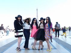 Girls fashion photo shoot in Paris by PreteMoiParis, via Flickr