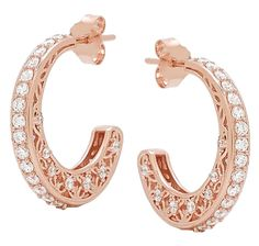 In order to enhance the exquisiteness of the sliver jewellery, are used by the jewelers. Jewelry Shop, Jewellery, Rose Gold Plates, Pretty In Pink, Hoop Earrings, Jewels, Sterling Silver, Beads, Bijoux
