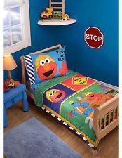 Beau SESAME STREET 4 PIECE TODDLER BED SET ELMO CONSTRUCTION ZONE Toddler Rooms,  Baby Boy Rooms