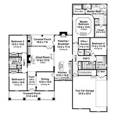 House Plan 21-192. I think this is my favorite so far.  I love the nursery/office and the 4th bedroom near the master.