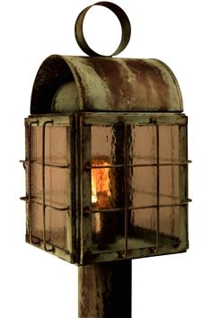 Back Bay Copper Lantern Post Light: Outdoor #lighting fixture is handmade the USA from solid copper and brass. The Back Bay Post Light will never rust or corrode making it ideal for waterfront homes and wet locations. Includes free shipping, a lifetime warranty and your choice of eight all-natural hand applied finishes and four distinctive style of glass at no extra cost to create a lantern as unique as your home.