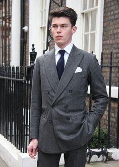 Oliver Spencer  Seen on Old Burlington Street, London, W1  Suit from Anderson & Sheppard    www.fashionwallstreet.com