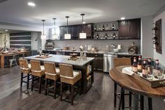 A finished basement is a great place to host a get together. (Toll Brothers Sea Breeze at Lacey, NJ)