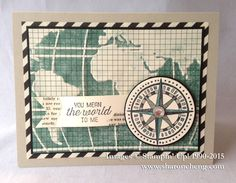 I loved the challenge of working with the Typeset Specialty Designer Series Paper.  I inked the World Traveler Embossing Folder with Lost Lagoon and embossed the grid paper.    The link with more details about this card goes live on December 1.  http://www.sharoncheng.com/2015/12/going-global-occasions-catalog-sneak.html