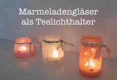 DIY: Upcycling - Marmeladeglas wird zum Teelichthalter - Wohnaccessoires - Dekoration