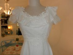 Vintage Bohemian Wedding Dress with Sleeves by SoleTree
