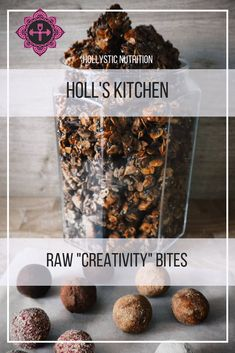 Raw date & creativity bites Baking Recipes, Pantry, About Me Blog, Gems, Nutrition, Breakfast, Creative, Food, Cooking Recipes
