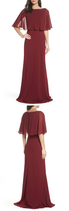 Popover Chiffon Gown by La Femme