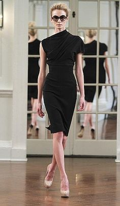 Dress designed by Victoria Beckham for Fall 2010 Fashion Show